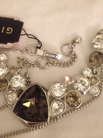 Givenchy Silver tone Crystal Glass Necklace Image 1