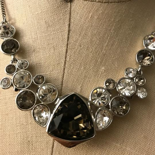 Givenchy Silver tone Crystal Glass Necklace Image 4