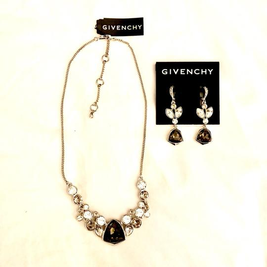 Givenchy Silver tone Crystal Glass Necklace Image 6