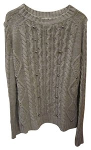 Relativity Gunmetal Stud Cable Sweater