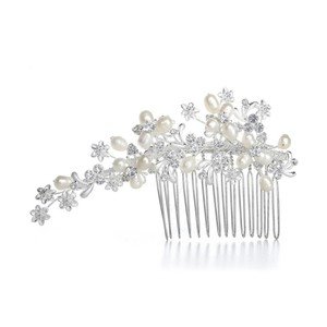 Mariell Freshwater Pearl Bridal Comb With Crystal 3307hc