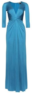 ISSA London Royal Engagement Princess Kate Silk Gown Ball Gown Cocktail Maxi Evening Dress
