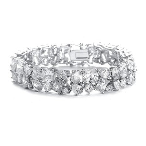 Mariell Bedazzling Wedding Bracelet In Multi Shaped Cz 3012b