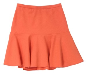 Elizabeth and James Fit Flare Skirt Orange Sorbet