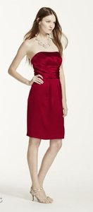 David's Bridal Apple Polyester In3175j Strapless Formal Bridesmaid/Mob Dress Size 4 (S)