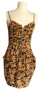 Gievergate short dress Yellow black pink Summer Mini on Tradesy