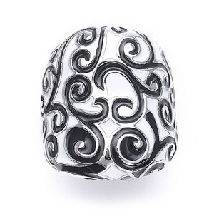 Mariell Black And White Designer Scroll Ring 3147r-5