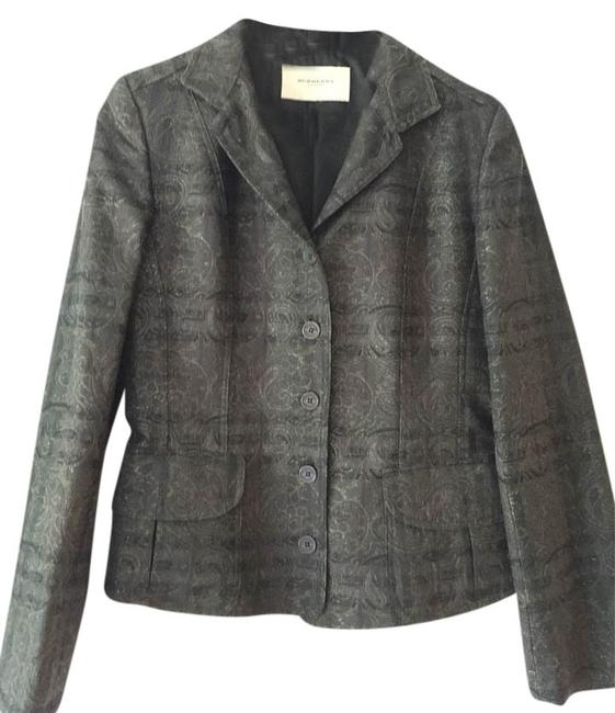 Preload https://img-static.tradesy.com/item/3949234/burberry-london-black-print-blazer-size-6-s-0-0-650-650.jpg