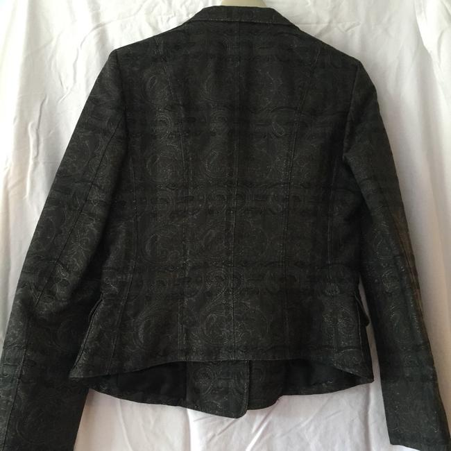 Burberry London Black Print Blazer Image 1