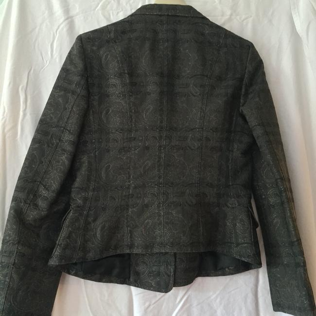 Burberry London Black Print Blazer Image 2