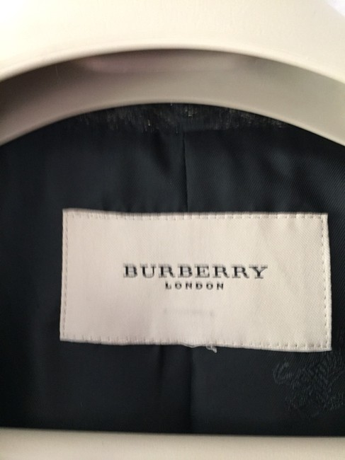 Burberry London Black Print Blazer Image 4