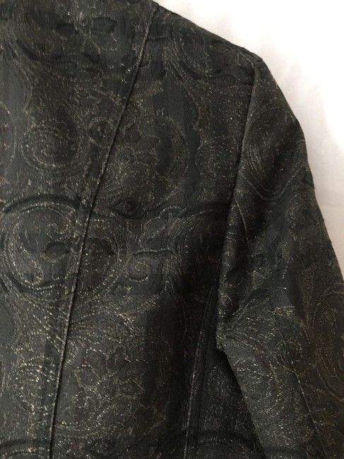 Burberry London Black Print Blazer Image 6