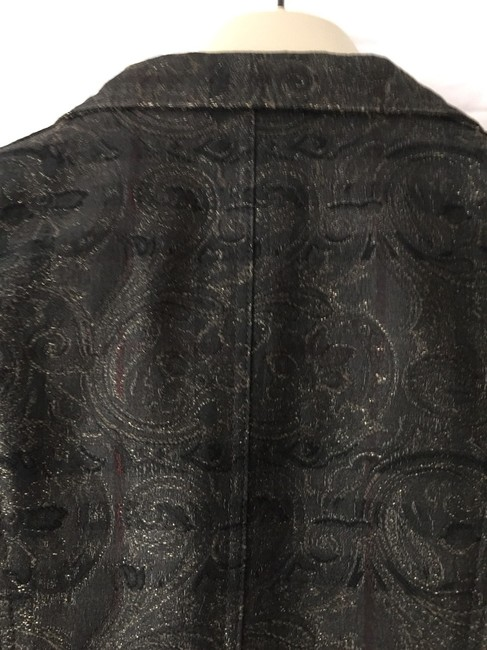 Burberry London Black Print Blazer Image 7