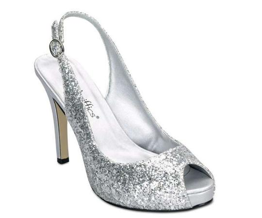 Coloriffics Silver Gala Platforms Size US 8