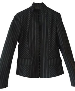 Burberry Prorsum Black With White Blazer