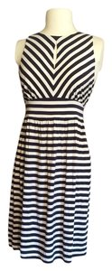 Ann Taylor LOFT short dress Navy and white Nautical on Tradesy