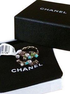 Chanel Chanel CC Turquoise Multi Stone Ring