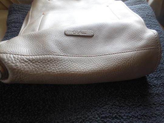 Cole Haan Leather Pebbled Logo Dust Tote in Taupe