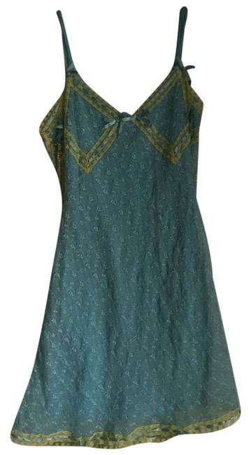 Betsey Johnson short dress aqua and green Lace Funky Charming on Tradesy
