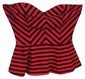 Forever 21 Top Red/Navy Image 0