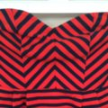 Forever 21 Top Red/Navy Image 1