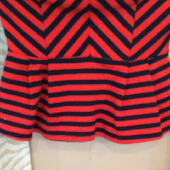 Forever 21 Top Red/Navy Image 2