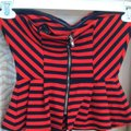 Forever 21 Top Red/Navy Image 4