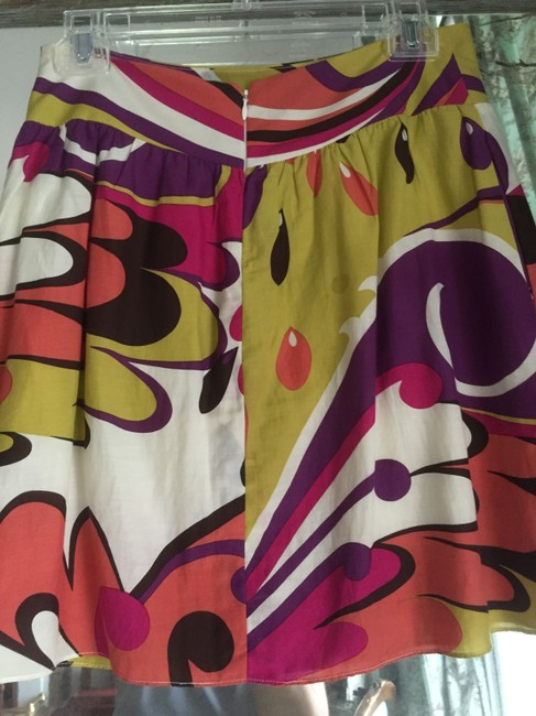 Other Pucci Funky Pockets Skirt gold fuchsia brown orange print