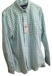 Tommy Hilfiger Button Down Shirt Teal