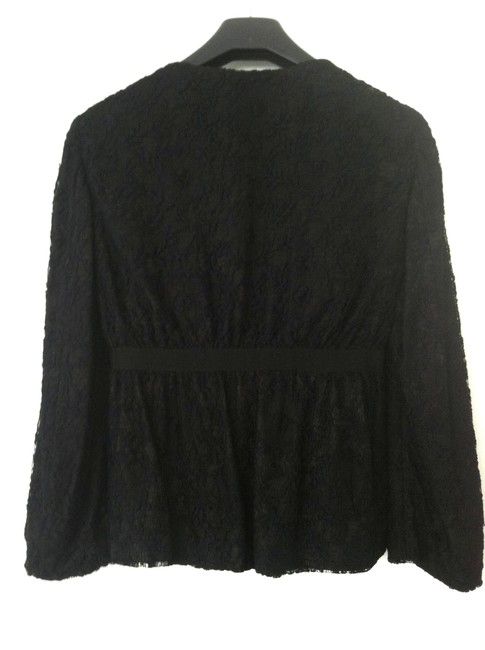 Moschino Lace Grosgrain Ribbon Black Blazer