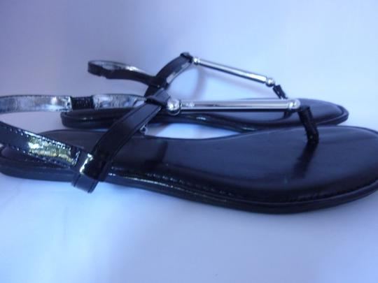 Style & Co Silver Hardware Black Sandals