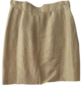 Chanel Skirt Beige Linen