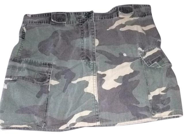 American Eagle Outfitters Skirt Black, Green, Tan