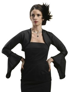 Mariell Long Bell Sleeve Satin Bolero with Braided Trim 3367BO-LG-JE
