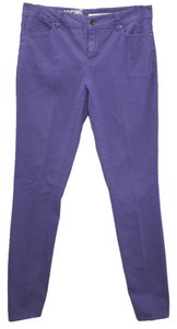 DKNY Stretch Cotton Skinny Skinny Pants PURPLE