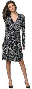 Diane von Furstenberg Dvf Animal Prints Wrap Snow Trees Silk Dress