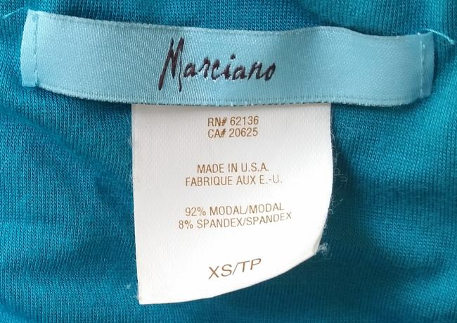 Marciano Jersey Handkerchief Low-neck Top teal