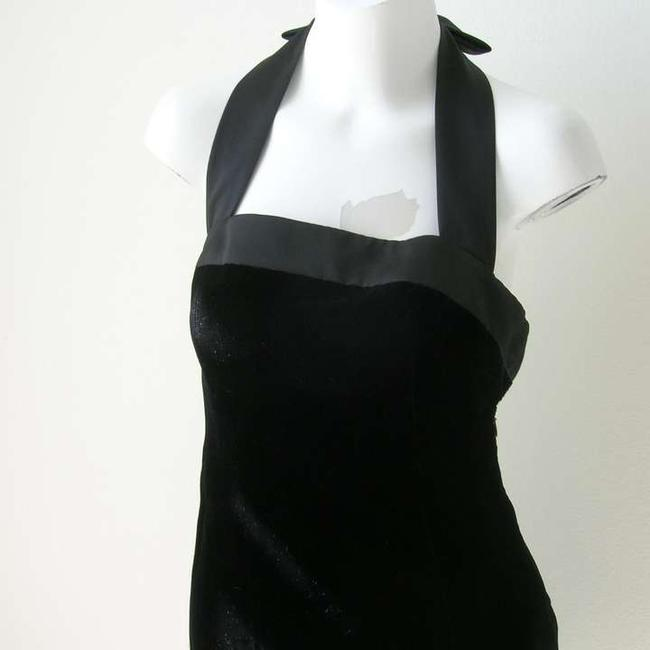 Nipon Boutique Vintage Velvet Halter Little Halter Mini Velvet Bow Vintage Vintage Halter Vintage Party Dress
