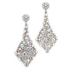 Mariell Iridescent Ab Crystal Wholesale Bridal Or Prom Earrings 3441e-ab-s