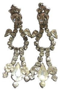 2 be bride Vintage faux rhinestone Clip On Wedding Earrings