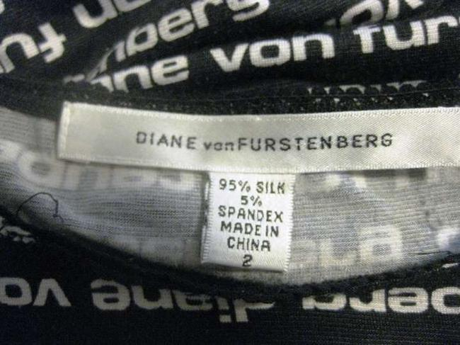 Diane von Furstenberg Top Skirt Shell Top Monogram Wrap Dvf White Dress