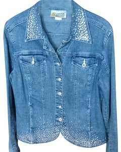 Christine Alexander Denium Crystals Blue Jacket