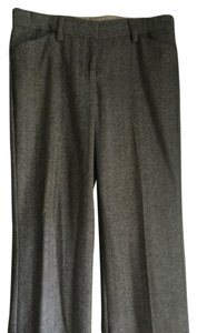 Express Wool Herringbone Classic Editor Wide Leg Pants gray