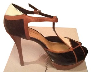 Jessica Simpson Black/Brown/cream Pumps