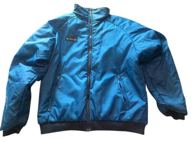 Columbia Sportswear Company Reve Reversible Machine Washable Nylon Polyester Reversibleblue/black Jacket