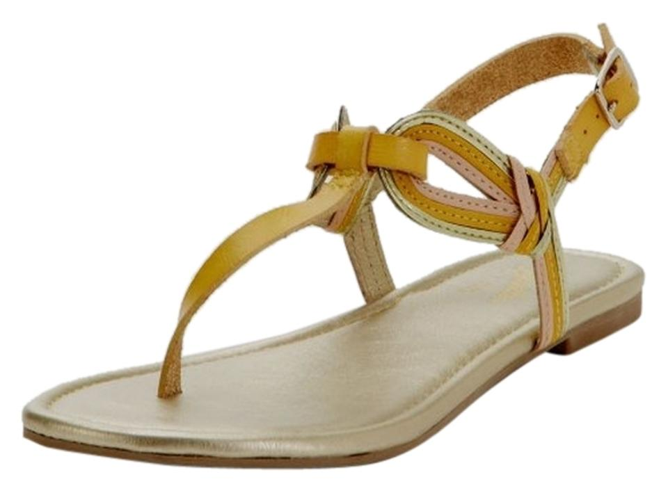 12bebeba317665 Seychelles Yellow Call Me The Breeze Leather 8.5m Sandals Size US ...