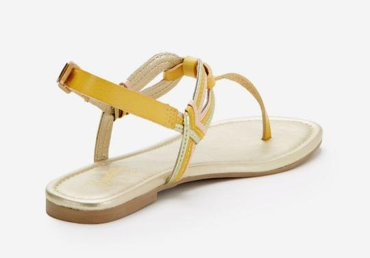 Seychelles Leather Summer Yellow Sandals