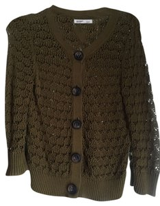 Old Navy Knit Olive Chunky Cardigan