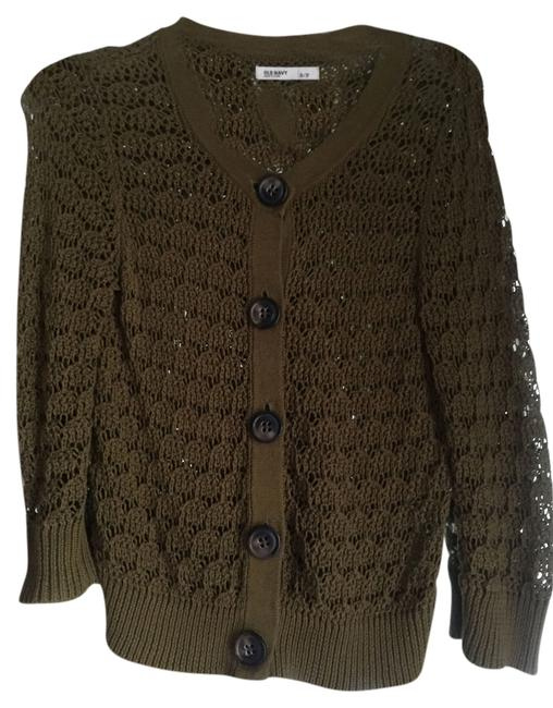 Preload https://item2.tradesy.com/images/old-navy-knit-chunky-cardigan-olive-green-3952321-0-0.jpg?width=400&height=650
