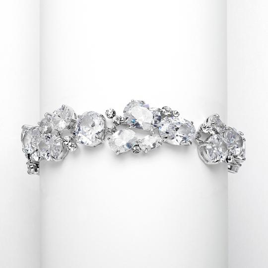 Mariell Silver Exquisite Evening with Multi Cubic Zirconia Shapes 3562b Bracelet